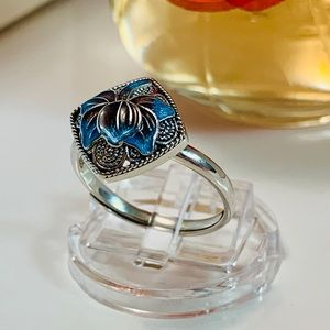 Pure 925 sterling silver orchid ring